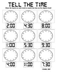 tell the time worksheet for the classroom pinterest