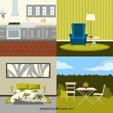 modern home furniture vector free download