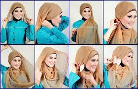 tutorial hijab pesta 2 kerudung tutorial hijab simpel dan cantik yang cocok buat kondangan