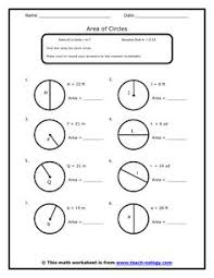 Area Of Sector Worksheet Worksheet About Calculating Area Of A Circle Pi As 3 14