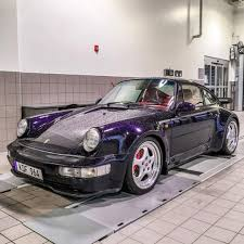 porsche purple freshly washed porsche 964 turbo in purple u0027leichtbau