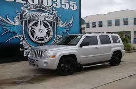 silver jeep patriot black rims rockstar rims 2017