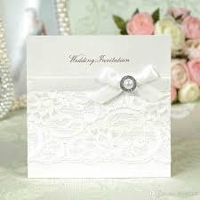 Invitation Cards Handmade Genuine Luxury Pure Handmade White Lace Pearl Romance Wedding