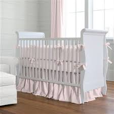 solid pink crib rail cover carousel designs