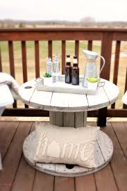 diy farmhouse style wood spool table must have mom