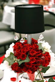 Black Table Centerpieces by Red And White Silk Valentine Centerpiece Floral Centerpieces