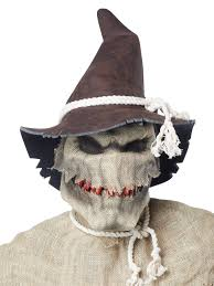 scarecrow halloween mask mens scary scarecrow costume motion mask sadistic