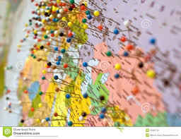 map tacks map and pins royalty free stock images image 10882739