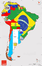 a map of south america flag simple map of south america