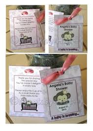 tea bag favors personalized baby shower tea bag or lemonade packet favors pdf