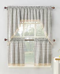 Curtain Pairs Lichtenberg No 918 Maisie Plaid Kitchen Curtain Pairs Valances