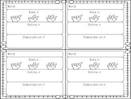 vocabulary graphic organizers worksheet and booklet pages tpt