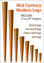 Mid Century Modern Sofa Legs Tablelegs Triples Output Of Mid Century Modern Legs