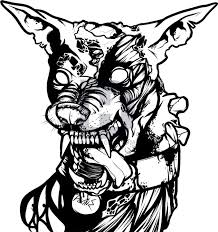 how to draw a zombie dog zombie dog step by step drawing guide