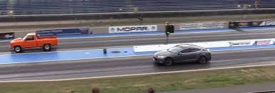 Ford Ranger Drag Truck - electric car vs drag truck gt speed