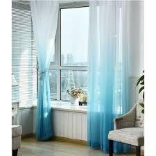 Sheer Blue Curtains with Ombre Sheer Curtains