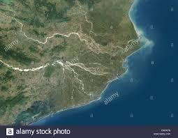 India Satellite Map by Mahanadi River Delta India True Colour Satellite Image True