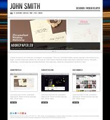 Cv Website by John Smith Personal Cv Portfolio Website Template By Odincov