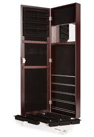 amazon com mirrored jewelry armoire locking jewelry armoire keeps