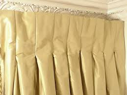 Pink Pleated Curtains Thai Silk Pleated Draperies In Two Tone Stripes Pink Yellow