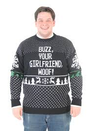home alone buzz your woof plus size sweater