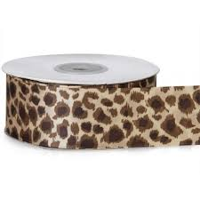 leopard ribbon satin leopard ribbon