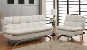 aristo white leather futon