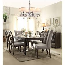 7 Piece Glass Dining Room Set Chair Dining Room Sets With Upholstered Chairs Alliancemv Com