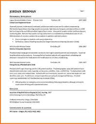 Sample Resume Of Registered Nurse 6 experienced nursing resume samples financial statement form