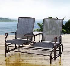 patio glider rocking chair bench loveseat 2 person rocker deck