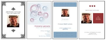funeral programs template our favorite actually free funeral program templates urns