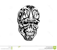 top 10 tribal skull tattoo design vector photos