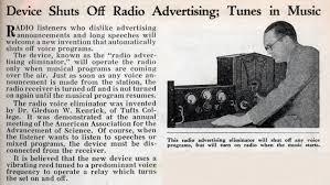 device shuts off radio advertising tunes in music modern mechanix
