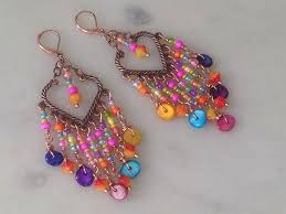 Colorful Chandelier Earrings Multi Colored Chandelier Earrings Multi Colored Gypsy Chandelier