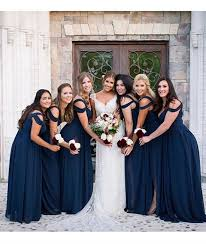 navy bridesmaid dresses a line shoulder navy blue prom dresses navy blue