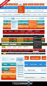 menu design resources 14 free custom web navigation menu psd template download download psd