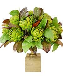 Vase On Sale Great Deals On Creative Displays Artichoke And Magnolia Leaves In