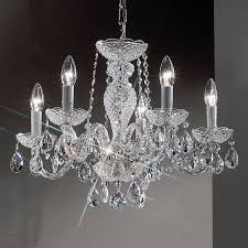 Chrome Crystal Chandelier by Shop Classic Lighting Monticello 22 In 5 Light Chrome Crystal