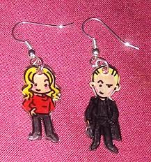 buffy earrings buffy and spike earrings by lovelyruthie on deviantart