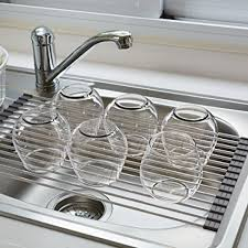 over the sink dish drying rack amazon com blu pier over the sink dish drying rack stainless steel