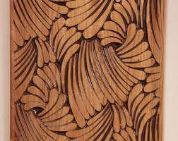 expensive best of etsy carved wood oak tree wood carving wall