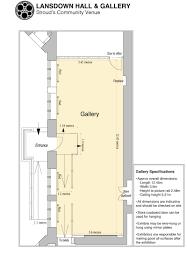 hiring gallery floor plan lansdown hall u0026 gallery