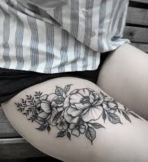 flowers on thigh u2014 tattoos on women u2014 pinterest thighs