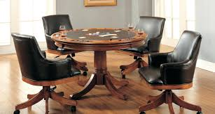 Dining Chairs Wheels Articles With Oak Dining Room Chairs With Casters Tag Stunning