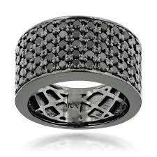 mens black diamond wedding bands 10k gold black diamond wedding band for men 1 67ct luxurman ring
