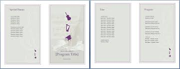 invitation programs event program invitation template formal word templates