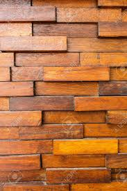 texture of old wooden wall and square wood overlap stock photo