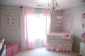 Light Pink Curtains For Nursery Baby Room Exciting Grey White Stripe Nursery Room Design For