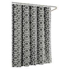 Luxury Shower Curtain White Cotton Black Shower Curtains Shower Accessories The Home Depot