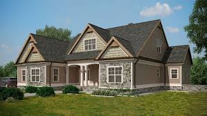 house plans with walkout basement craftsman style lake house plan with walkout basement